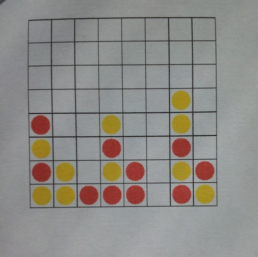 A 'real' Connect Four board successfully recognised